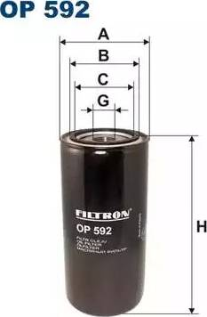 Filtron OP 592 - Filter,tööhüdraulika japanparts.ee