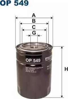 Filtron OP 549 - Filter,tööhüdraulika japanparts.ee