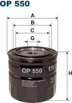 Filtron OP 550 - Filter,tööhüdraulika japanparts.ee