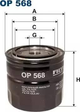 Filtron OP 568 - Filter,tööhüdraulika japanparts.ee
