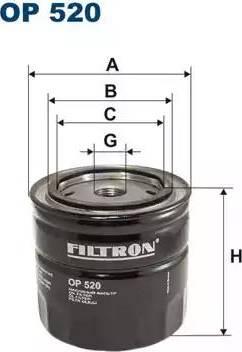 Filtron OP 520 - Filter,tööhüdraulika japanparts.ee