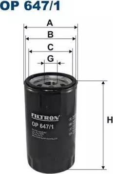 Filtron OP 647/1 - Filter,tööhüdraulika japanparts.ee