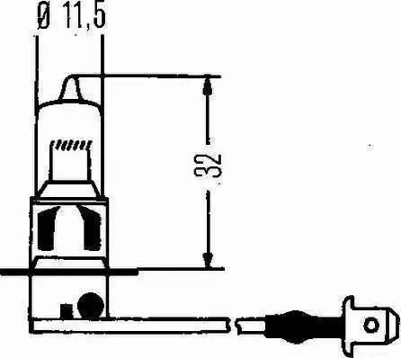 HELLA 8GH 002 090-271 - Hõõgpirn,udutuled japanparts.ee