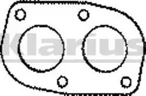Klarius 410128 - Tihend, heitgaasitoru japanparts.ee
