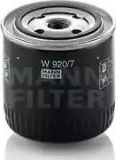 Mann-Filter W 920/7 - Filter,tööhüdraulika japanparts.ee