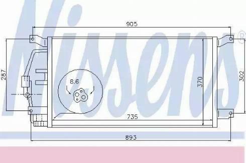 Nissens 94797 - Kondensaator,kliimaseade japanparts.ee