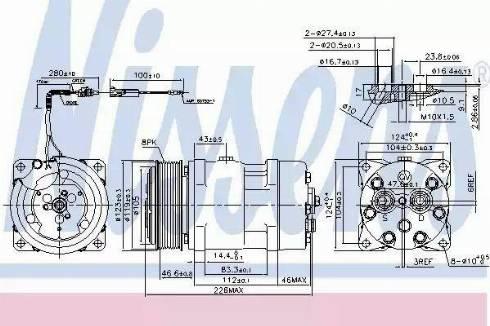 Nissens 899930 - Kompressor,kliimaseade japanparts.ee
