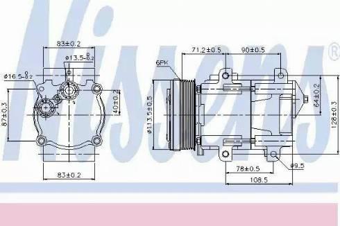 Nissens 89046 - Kompressor,kliimaseade japanparts.ee