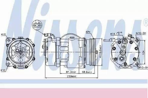 Nissens 89040 - Kompressor,kliimaseade japanparts.ee