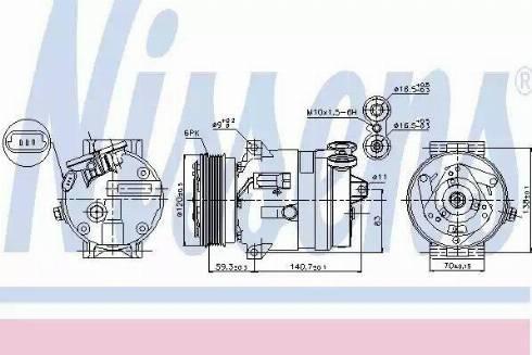 Nissens 89057 - Kompressor,kliimaseade japanparts.ee