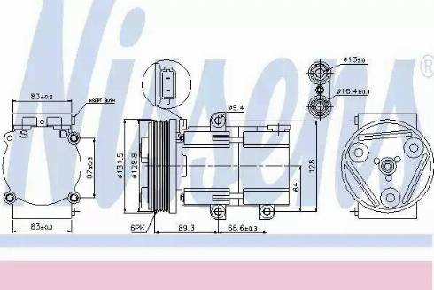 Nissens 89068 - Kompressor,kliimaseade japanparts.ee