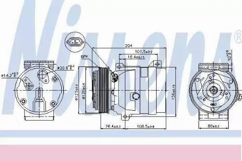 Nissens 89063 - Kompressor,kliimaseade japanparts.ee