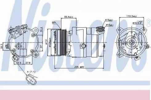 Nissens 89062 - Kompressor,kliimaseade japanparts.ee