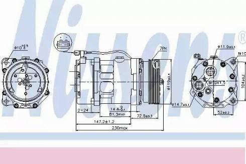 Nissens 89118 - Kompressor,kliimaseade japanparts.ee