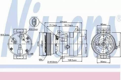 Nissens 89121 - Kompressor,kliimaseade japanparts.ee