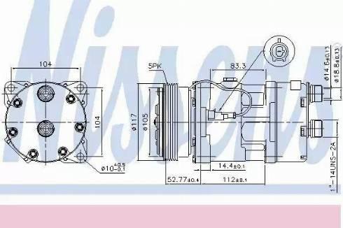 Nissens 89123 - Kompressor,kliimaseade japanparts.ee