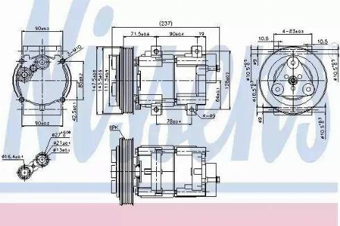 Nissens 89251 - Kompressor,kliimaseade japanparts.ee