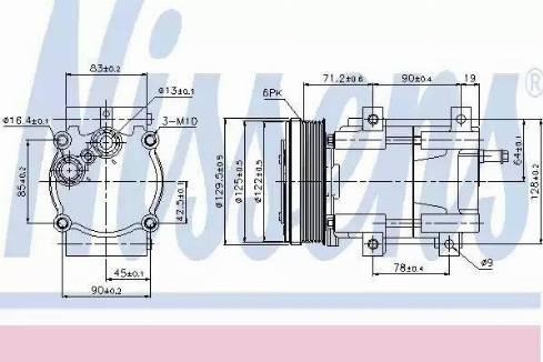 Nissens 89205 - Kompressor,kliimaseade japanparts.ee