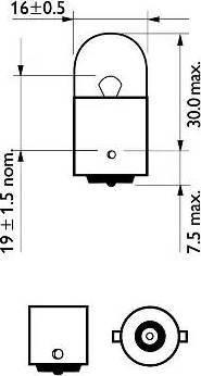 PHILIPS 12814CP - Hõõgpirn,sisenemisvalgus japanparts.ee