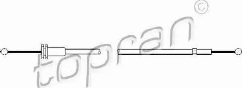 Topran 102 988 - Mootorikapoti trossid japanparts.ee