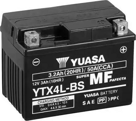 Yuasa YTX4L-BS - Käivitusaku japanparts.ee
